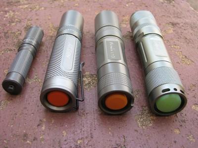 iTP A3 EOS, AKOray K-106, Fenix L1D, Uniquefire S10