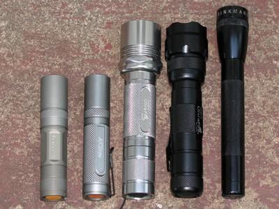 Fenix L1D, AKOray K-106, 504B, 502B, minimag
