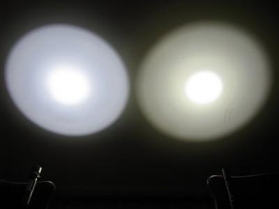 504B vs. Fenix L2D 1/25 sec exposure