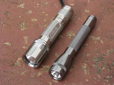 Ultrafire WF-504B with Minimag