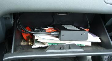 Sony XA-300 in glove compartment